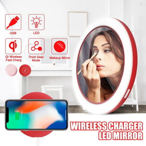 Professional Wireless Charger LED Mirror - Health & Beauty