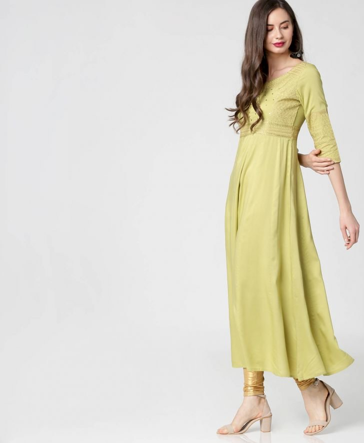 Gold Embroidered Dress Kurta