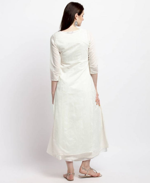 Embroidered A-Line Layer Kurta