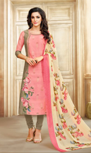 Real Charm Chanderi Light Pink Dress Material