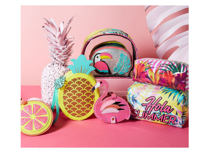 bright and tropical accessories for girls posh and pop collection
