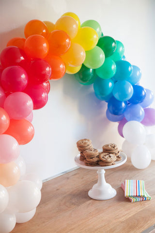 rainbow balloon arch for st patricks day