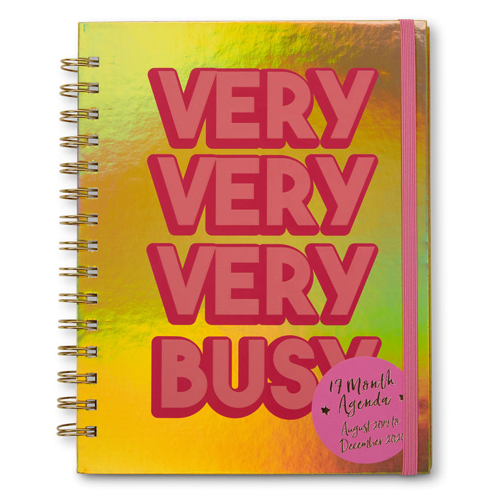 very very very busy holographic weekly organizer 17 month agenda posh and pop