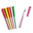 Boxed set of 6 rainbow black ink pens from posh and pop