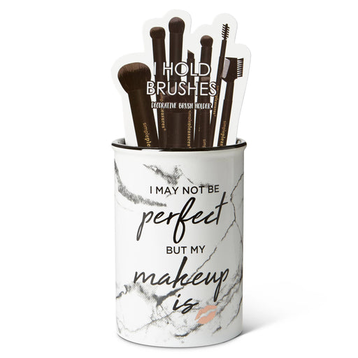 I may not be perfect ceramic brush holder posh and pop