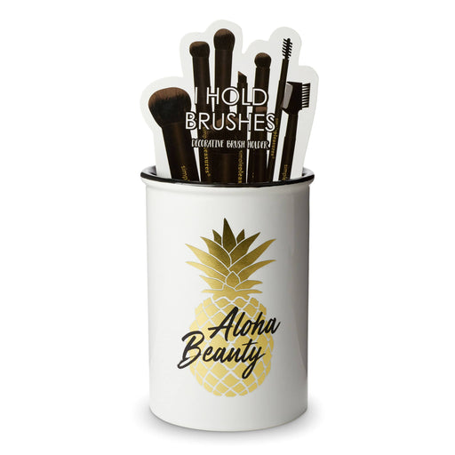 aloha beauty ceramic make up brush holder posh and pop