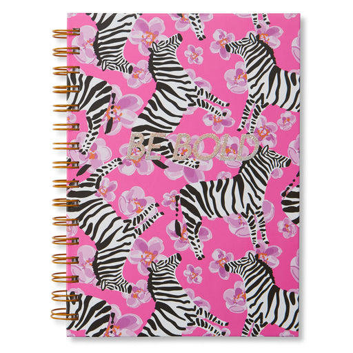 be bold zebra spiral notebook hard cover posh and pop