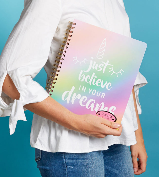 believe in your dreams agenda - lifestyle view - posh and pop