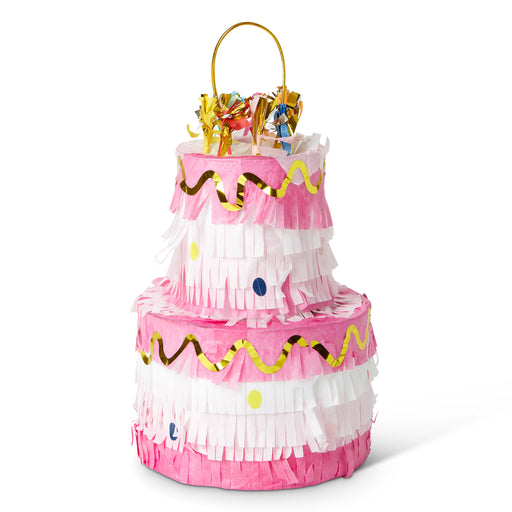 pink birthday cake piñata posh and pop