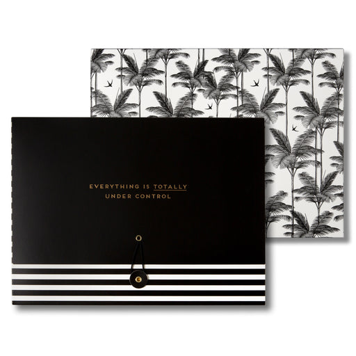 tropical, black and white folders for school or college, throw in your back pack or display on your desk