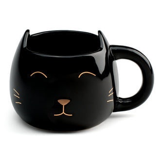 Coffee Mug - Black Cat Meow Mug