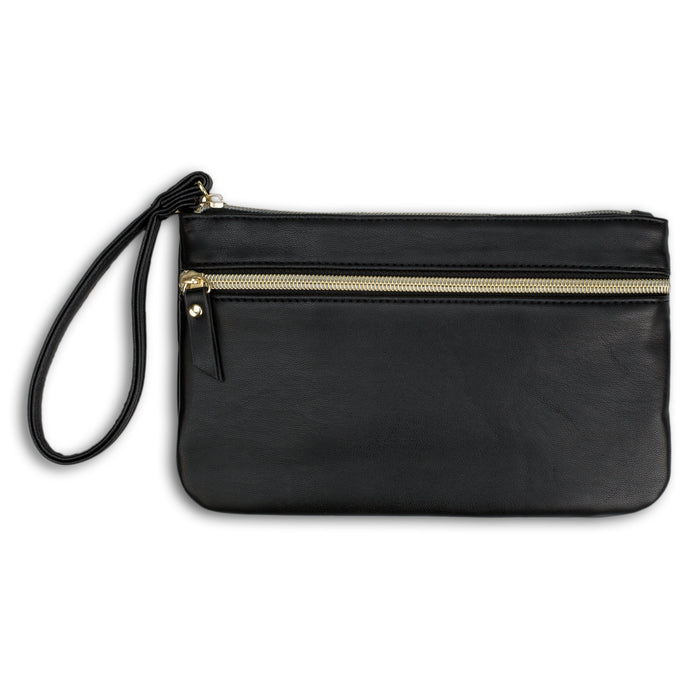 black charging wristlet posh and pop