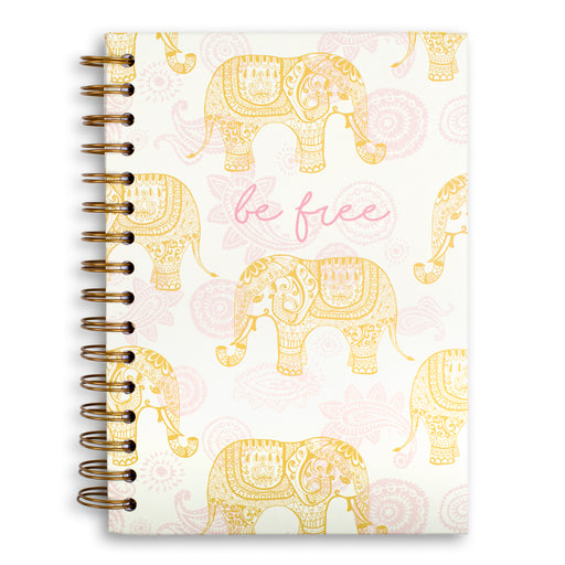 be free elephant themed bohemian hard cover notebook from posh and pop