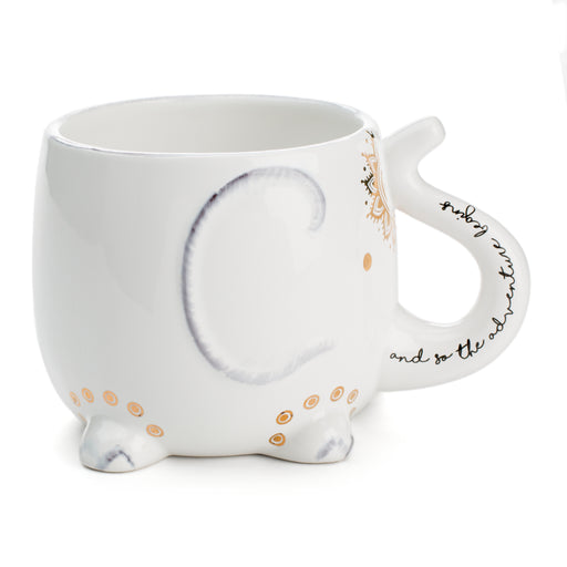 bohemian elephant mug, let the adventure begin, novelty mug for tea and coffee