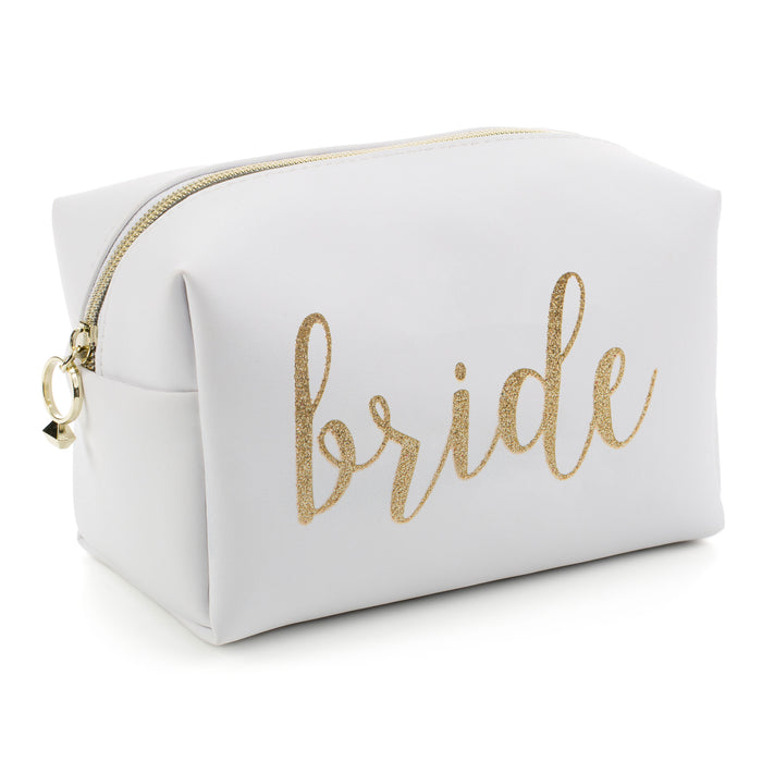 bride cosmetic bag posh and pop