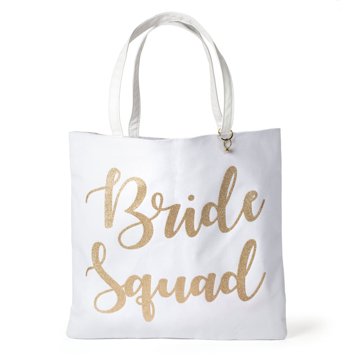 bride squad canvas tote makes the perfect gift for your bridesmaids posh and pop