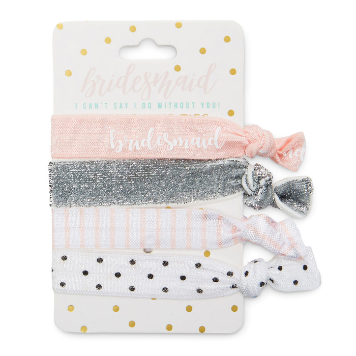 bridesmaid gift bundle, make up case, sleep mask, hair ties, bridesmaid gift, posh and pop