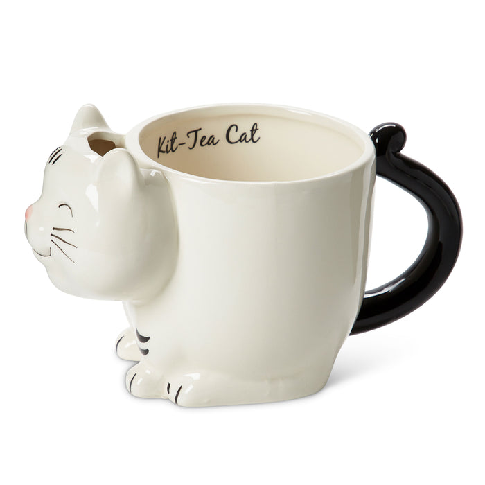 ceramic cat mug for coffee or tea posh and pop