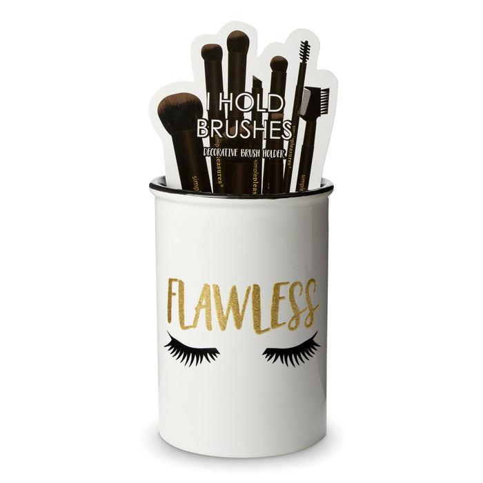 ceramic make up brush holder, flawless