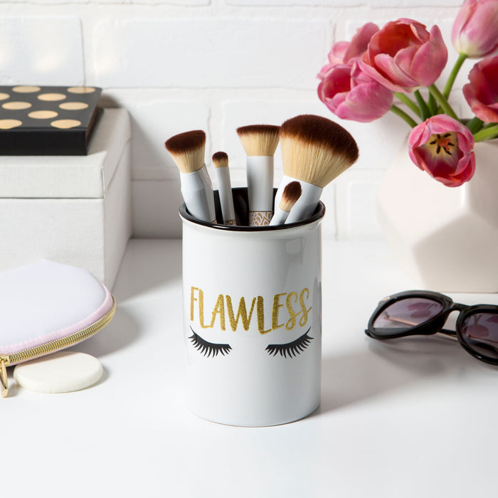 makeup brush holder ceramic flawless posh and pop