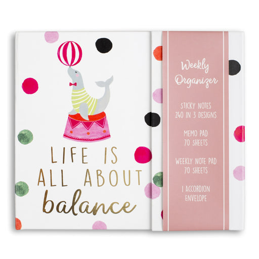 life is all about balance circus weekly organizer posh and pop