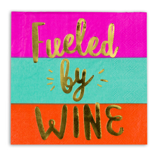 fueled by wine paper party napkins posh and pop