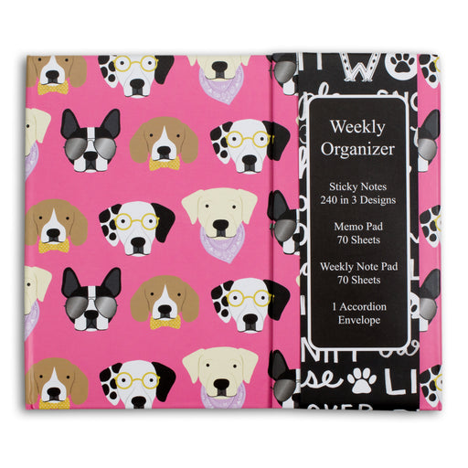 dog themed weekly planner and organizer from posh and pop