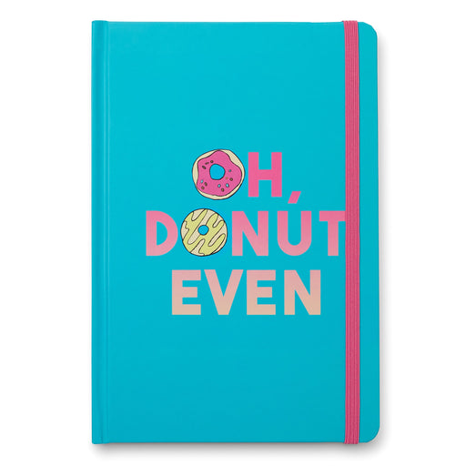 oh donut even bound journal, blue and pink, posh and pop