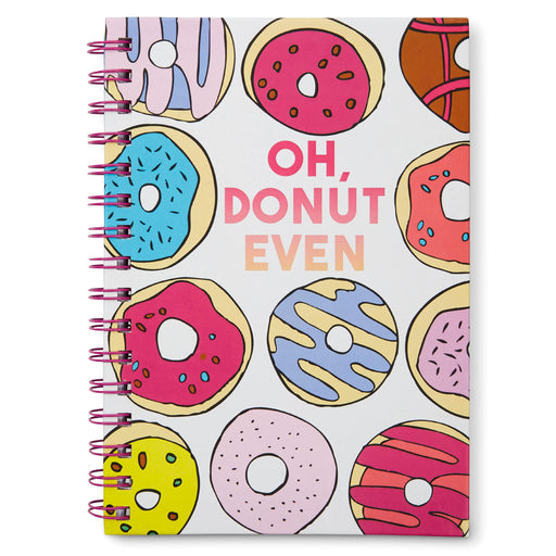 donut even spiral notebook, lined pages, posh and pop