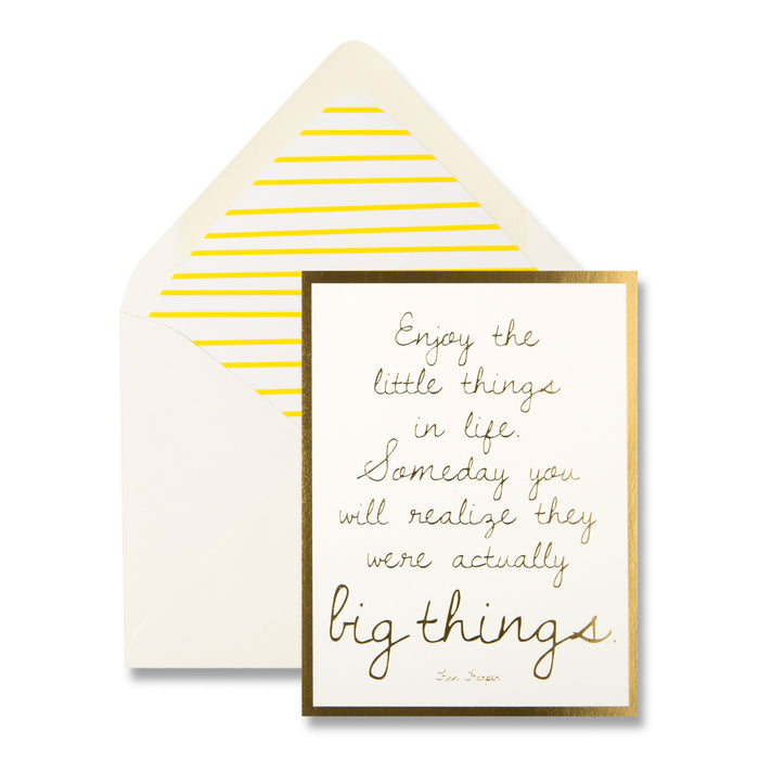 enjoy the little things notecard, send to friends and family, greeting card