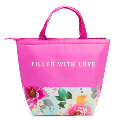 Insulated floral design lunch tote posh and pop