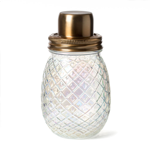 iridescent glass pineapple drink shaker cocktail shaker