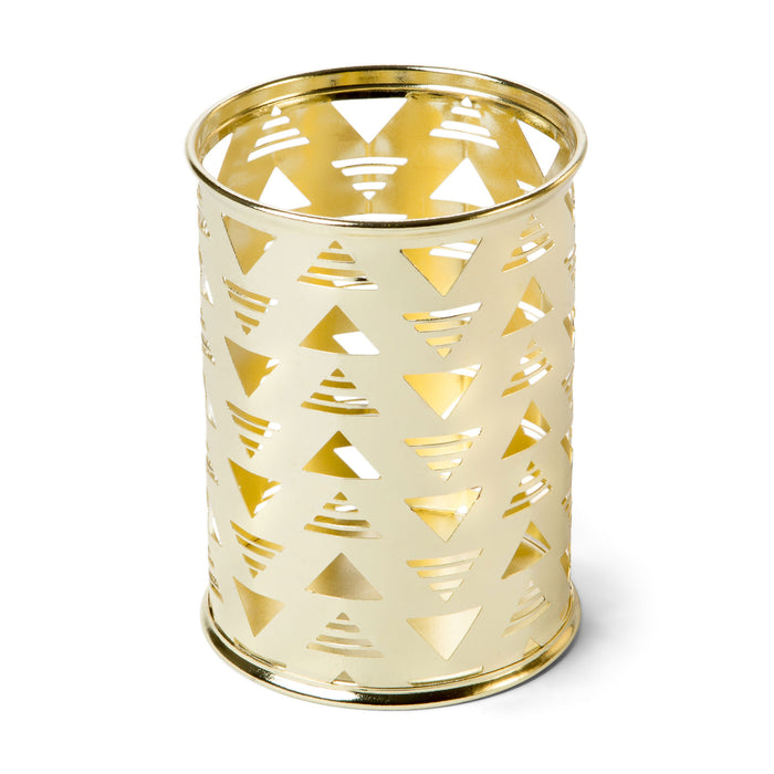 gold pencil holder desk decor