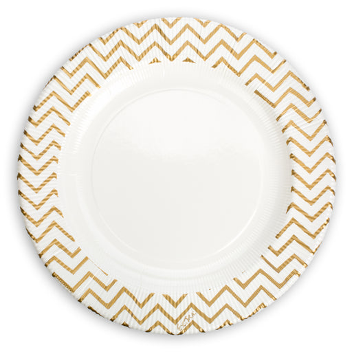 gold chevron paper appetizer plates perfect for a party