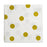 gold polkadot paper party napkins posh and pop