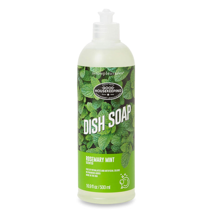 good housekeeping dish soap, rosemary mint scented, posh and pop