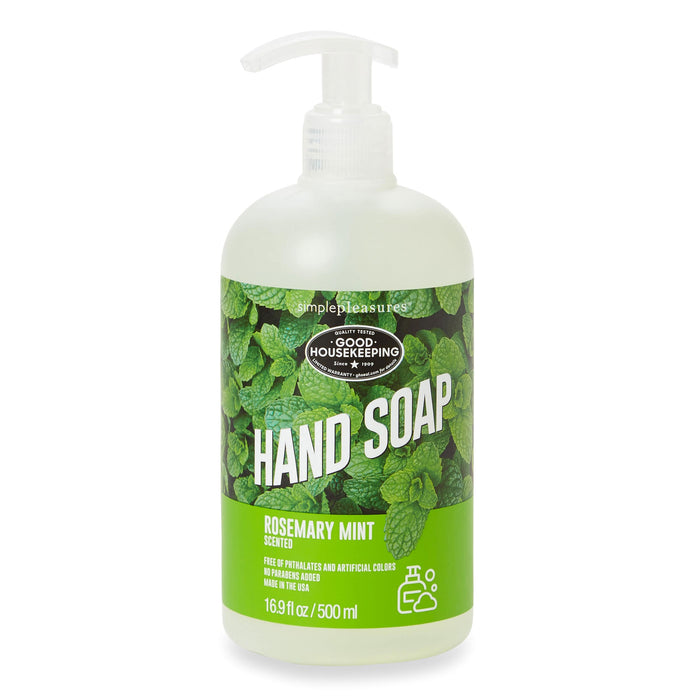 rosemary mint hand soap, good housekeeping soap, posh and pop