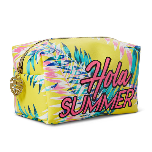 hola summer bright and tropical cosmetic bag posh and pop