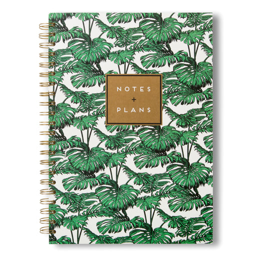 large notebook unlined pages palm trees tropical vibes for school