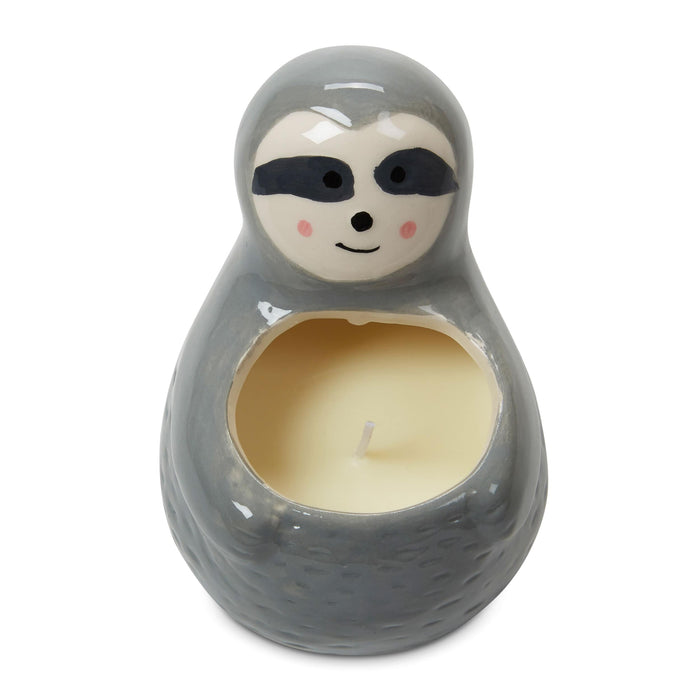 sloth candle, novelty sloth gifts, fresh lavender scented, posh and pop