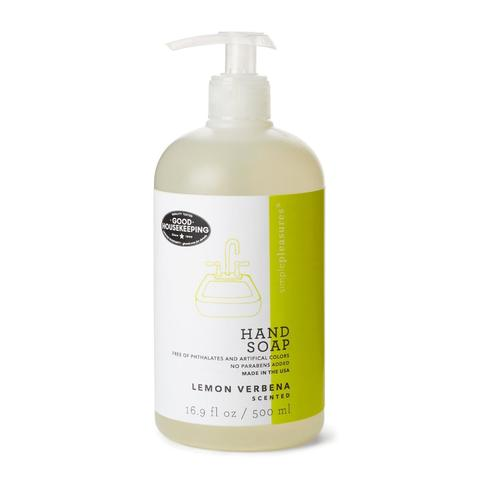 lemon verbena scented hand soap as seen in good housekeeping magazine