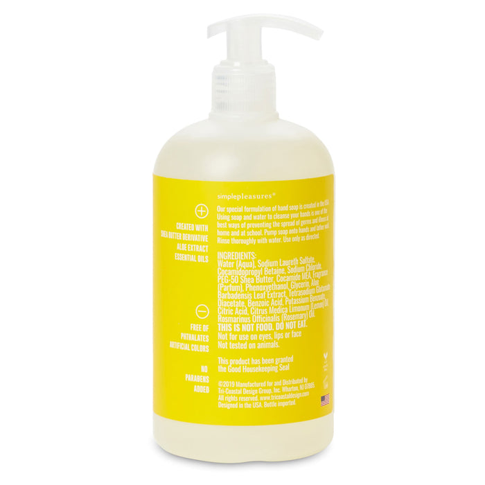 good housekeeping hand soap, lemon verbena scented, posh and pop