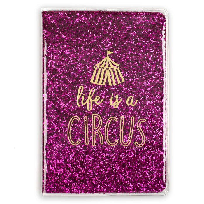 life is a circus pink glitter bound journal posh and pop