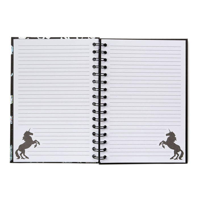 hard cover unicorn notebook, unicorn notes, posh and pop