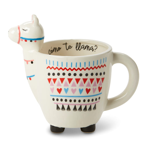 ceramic llama coffee mug posh and pop