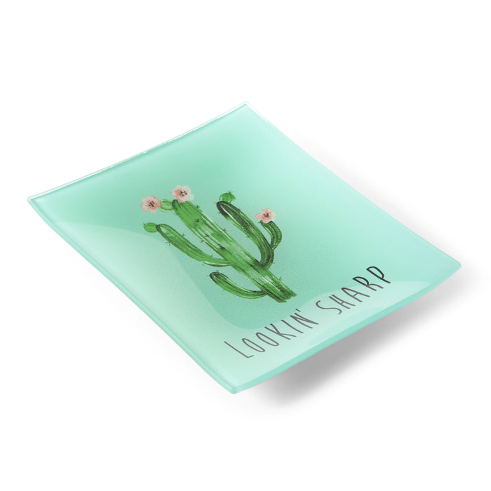 cactus home decor trinket tray