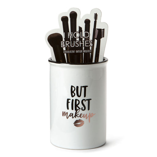 but first makeup ceramic beauty brush holder posh and pop