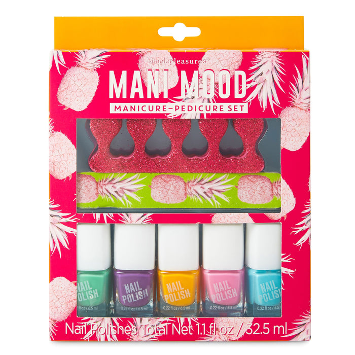 tropical getaway manicure set 5 nail polish set posh and pop