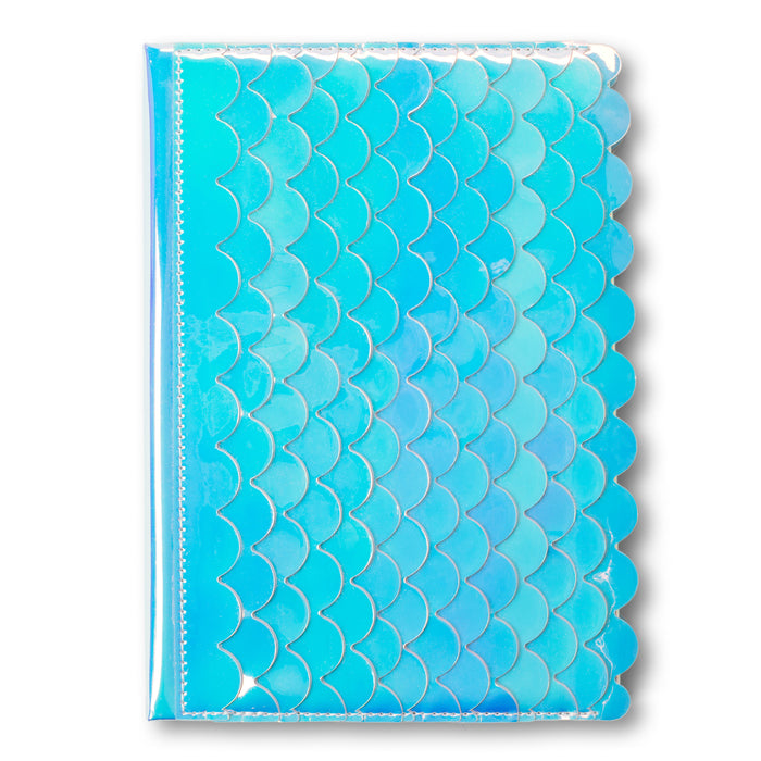 mermaid scales iridescent notebook lined pages