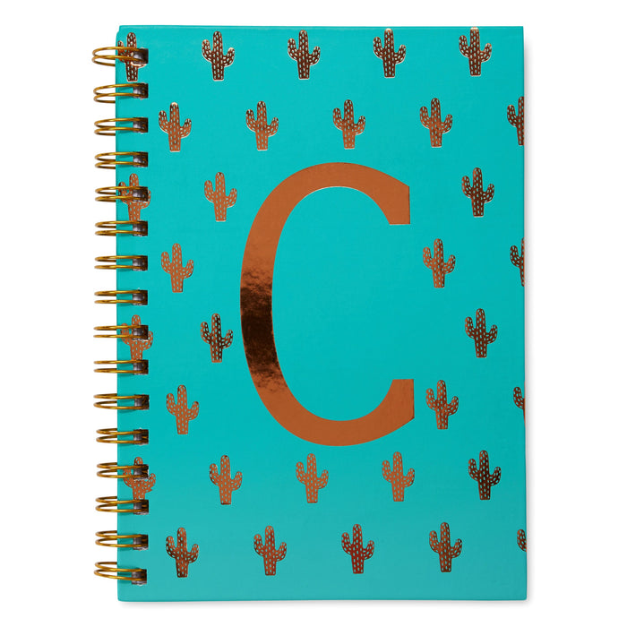 colorful monogram spiral notebooks posh and pop